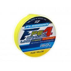 Шнур Flagman PE Hybrid F4 150м Fluo Yellow 0.23мм