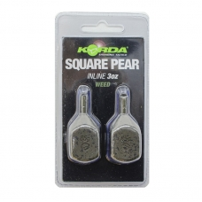 Грузило Korda Square Pear Inline Blister 3,0oz 84гр, шт