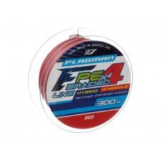 Шнур Flagman PE Hybrid F4 300м Red 0.45мм