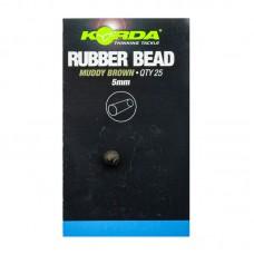 Бусина резиновая Korda Rubber Bead Brown 4мм, шт