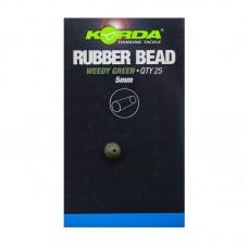 Бусина резиновая Korda Rubber Bead Green 5мм