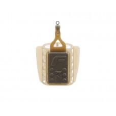 Кормушка пластиковая фидерная FLAGMAN маленькая сетка со стабилизатором 21g