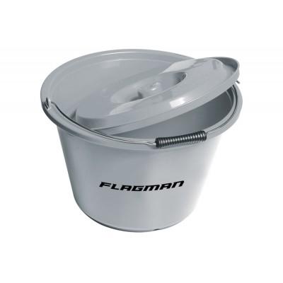 Ведро для прикормки с крышкой Flagman 18 л