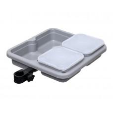 Подставка для коробок с креплением на платформу FLAGMAN D-25/30/36мм, (480х370mm) + 2 коробки (17х17х9cm)