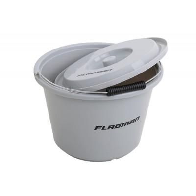 Ведро для прикормки с крышкой Flagman 12 л