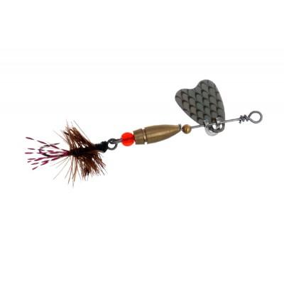 Блесна Flagman Butterfly 1,1г лепесток серебро коричневая муха