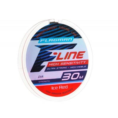 Леска Flagman F-Line Ice Red 30 м, 0,10 мм