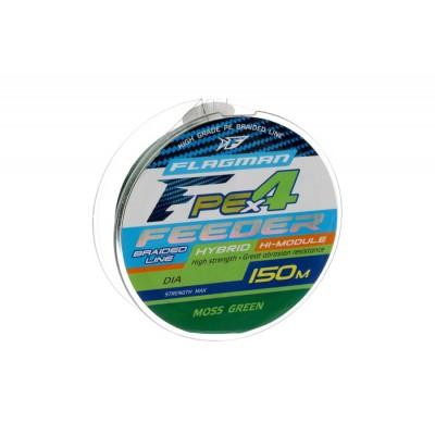 Шнур Flagman PE Hybrid X4 Feeder Moss Green 150м 0.16мм