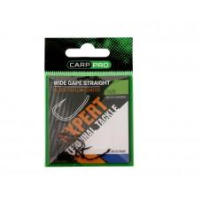 Крючки Карповые CARP PRO Wide Gape Straight BT Series № 4 Black Teflon