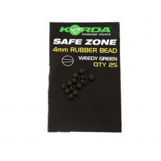 Бусина резиновая Korda Rubber Bead Green 4мм