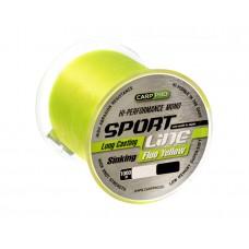 Леска CARP PRO Sport Line Fluo Yellow  1000M 0,185 mm