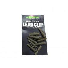 Безопасная клипса Korda Quick Release Lead Clips Clay/Gravel, шт